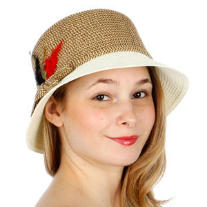 feather bow fedora hat